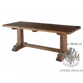 Деревянный стол 200x80 под старину из массива сосны Викинг