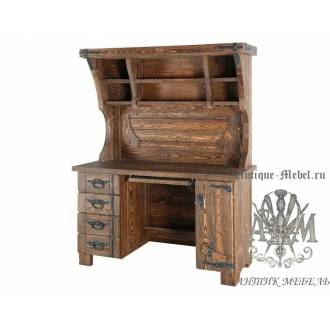 Деревянный стол под старину из массива сосны Компьютерный