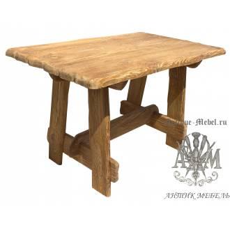 Деревянный стол 140x80 под старину из массива сосны Хутор