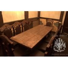 Деревянный стол 200x80 под старину из массива сосны Застолье