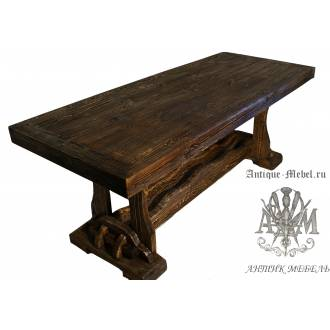 Деревянный стол 180x80 под старину из массива сосны Йорк