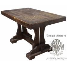 Деревянный стол 140x80 под старину из массива сосны Йорк-2
