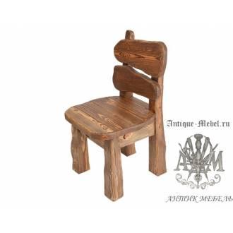 Деревянный стул под старину из массива сосны Медведь