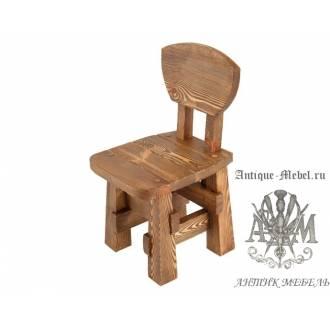 Деревянный стул под старину из массива сосны Рыбак