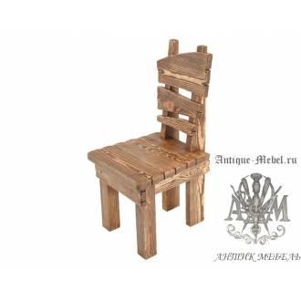 Деревянный стул под старину из массива сосны Охотник