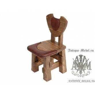 Деревянный стул под старину из массива сосны Подкова