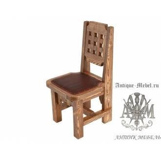 Деревянный стул под старину из массива сосны Трюм