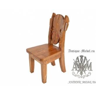 Деревянный стул под старину из массива сосны Франциск