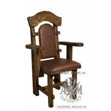 Деревянное кресло под старину из массива сосны Солерно