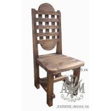 Деревянный стул под старину из массива сосны Адамант