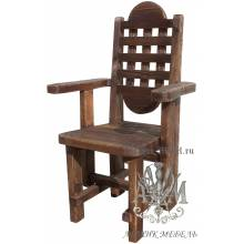 Деревянное кресло под старину из массива сосны Адамант