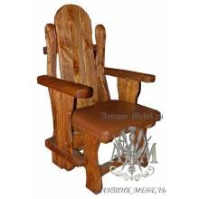 Деревянное кресло под старину из массива сосны Флёри