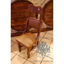 Деревянный стул под старину из массива сосны Градо