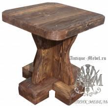 Деревянный табурет под старину из массива сосны