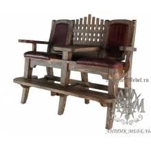 Деревянное кресло бильярдное под старину из массива сосны Атос