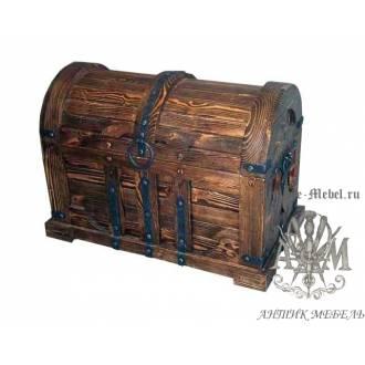 Сундук из дерева массива сосны под старину Пират
