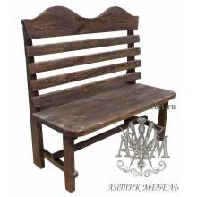 Деревянная скамья под старину 1,5 м. из массива сосны Беседа