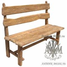 Деревянная скамья под старину 1,4 м. из массива сосны Хутор