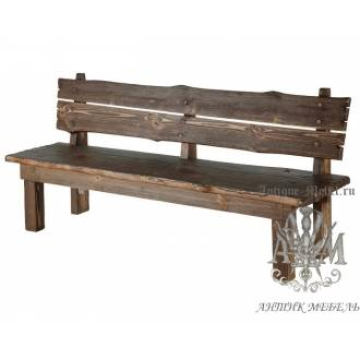 Деревянная скамейка под старину 2 м. из массива сосны Викинг