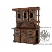 Шкаф-буфет из дерева массива сосны под старину