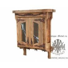 Шкаф настенный из дерева массива сосны под старину Маркиза
