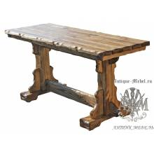 Стол обеденный 140x80 под старину из массива сосны Кострома