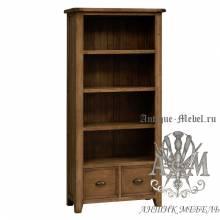 Шкаф книжный из массива состаренного дерева бука Кантри №4