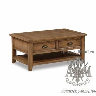 Журнальный столик из массива состаренного дерева бука Кантри №2