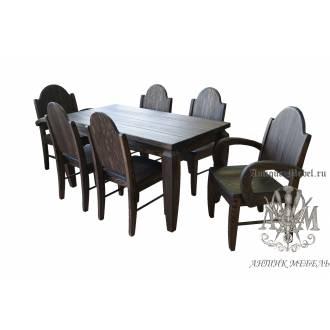 Комплект мебели под старину из массива сосны Вежа