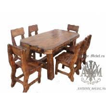 Комплект мебели под старину из массива сосны Вятший