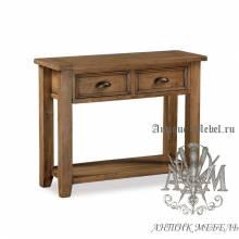 Консольный стол из массива состаренного дерева бука Кантри