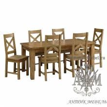 Столовый набор из массива состаренного дерева бука Кантри №1