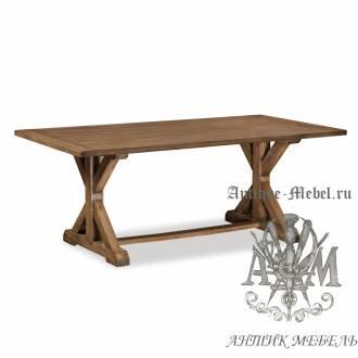 Стол 200x80 из массива состаренного дерева бука Кантри №2