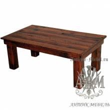 Журнальный стол под старину из массива дуба №3