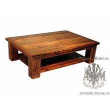 Журнальный стол под старину из массива дуба №5