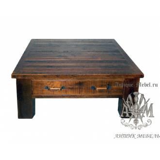 Журнальный стол под старину из массива дуба №6
