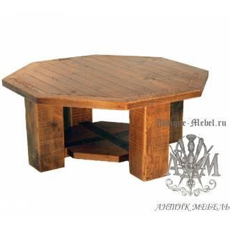 Журнальный стол под старину из массива дуба №7