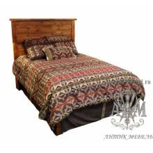 Деревянная кровать под старину из массива дуба №5