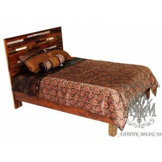 Деревянная кровать под старину из массива дуба №7