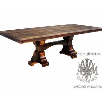 Стол 250x100 обеденный деревянный под старину из массива дуба №3