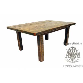 Стол 150x80 обеденный деревянный под старину из массива дуба №5