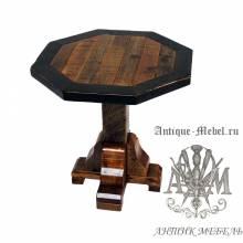 Стол 120x120 обеденный деревянный под старину из массива дуба №8