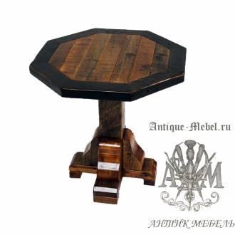 Стол обеденный под старину из массива дуба №8 90x90