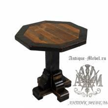 Стол 120x120 обеденный деревянный под старину из массива дуба №9