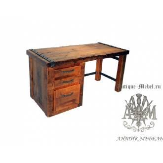 Стол письменный деревянный под старину из массива дуба №1