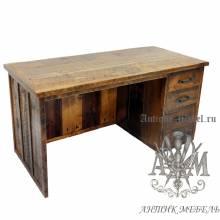 Стол письменный деревянный под старину из массива дуба №2