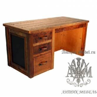 Стол письменный деревянный под старину из массива дуба №3