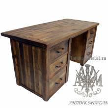 Стол письменный деревянный под старину из массива дуба №4