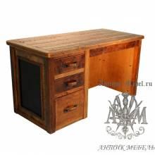 Стол письменный деревянный под старину из массива дуба №5