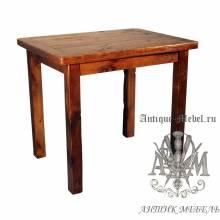 Стол письменный деревянный под старину из массива дуба №6